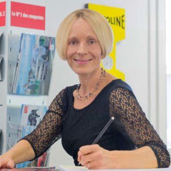 Ein Portrait von Andrea Bruhin, Kundenempfang